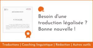 Besoin d'une traduction légalisée ?